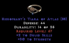 -+2 Druid Skills/30 Str Diadem/Tiara/Circlet - 0 Socket