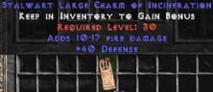 40 Defense w/ 10-17 Fire Damage LC