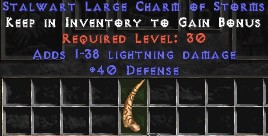 40 Defense w/ 1-38 Lightning Damage LC