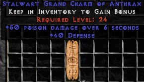 40 Defense w/ 50 Poison Damage GC