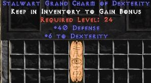 40 Defense w/ 6 Dex GC