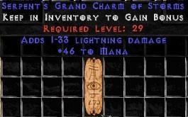 46 Mana w/ 1-33 Lightning Damage GC