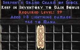 46 Mana w/ 1-3 Lightning Damage GC