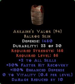 Arkaine's Valor - 2 Skills & 180% ED