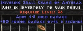 4-8 Cold Damage w/ 50 Poison Damage SC