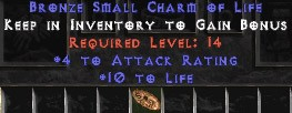 4 Attack Rating w/ 10 Life SC
