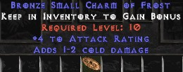 4 Attack Rating w/ 1-2 Cold Damage SC