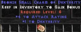 4 Attack Rating w/ 1 Dex SC