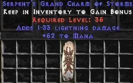52 Mana w/ 1-33 Lightning Damage GC