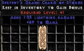59 Mana w/ 1-33 Lightning Damage GC
