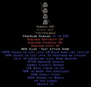 Phoenix Hydra Bow - 350-379% ED