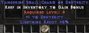 5 Resist Lightning w/ 1 Dex SC