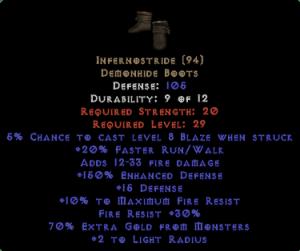 Infernostride - 150% ED & 70% EG - Perfect