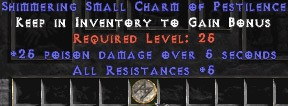 5 Resist All w/ 25 Poison Damage SC