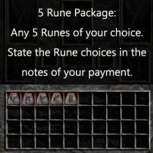 Multiple Rune Package 5 x Any Runes