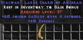 60 Defense w/ 50 Poison Damage LC