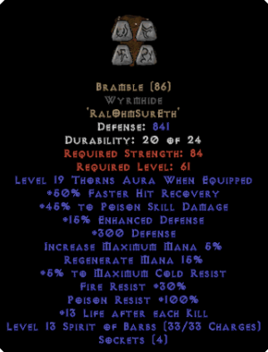 Bramble Wyrmhide - +40-49% PSD