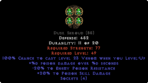 =+20/-20 Poison Facet Level-Up Dusk Shroud