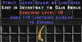6 Defense w/ 1-13 Lightning Damage LC