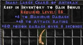 6 Max Damage w/ 48 AR & 50 Poison Damage LC