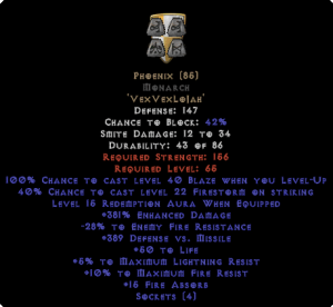 Phoenix Monarch - 380-399% ED & 15 Aura