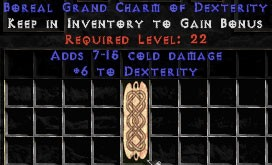 7-15 Cold Damage w/ 6 Dex GC