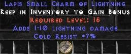 7 Resist Cold w/ 1-10 Lightning Damage SC