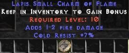 7 Resist Cold w/ 1-2 Fire Damage SC