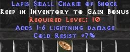 7 Resist Cold w/ 1-6 Lightning Damage SC