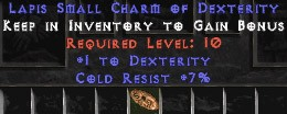7 Resist Cold w/ 1 Dex SC