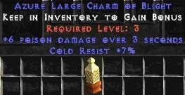 7 Resist Cold w/ 6 Poison Damage LC
