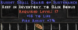 7 Resist Fire w/ 15 Life SC