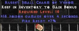 7 Resist Fire w/ 15 Poison Damage SC