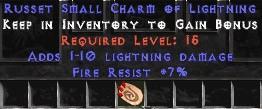 7 Resist Fire w/ 1-10 Lightning Damage SC