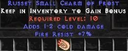 7 Resist Fire w/ 1-2 Fire Damage SC