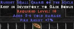 7 Resist Fire w/ 2-4 Cold Damage SC
