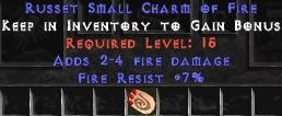7 Resist Fire w/ 2-4 Fire Damage SC