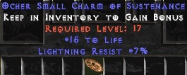 7 Resist Lightning w/ 15 Life SC