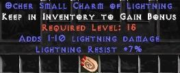 7 Resist Lightning w/ 1-10 Lightning Damage SC