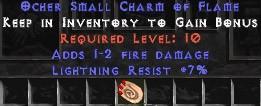 7 Resist Lightning w/ 1-2 Fire Damage SC