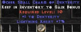 7 Resist Lightning w/ 1 Dex SC