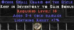 7 Resist Lightning w/ 2-4 Cold Damage SC