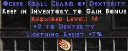 7 Resist Lightning w/ 2 Dex SC