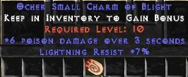 7 Resist Lightning w/ 6 Poison Damage SC