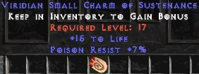 7 Resist Poison w/ 15 Life SC