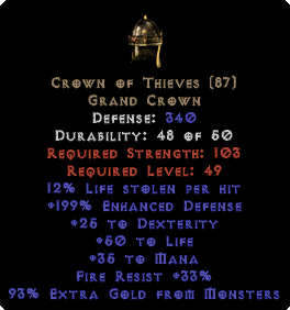 Crown of Thieves - 12% LL