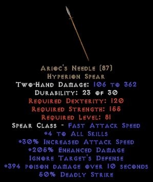 Arioc's Needle - 4 Skills