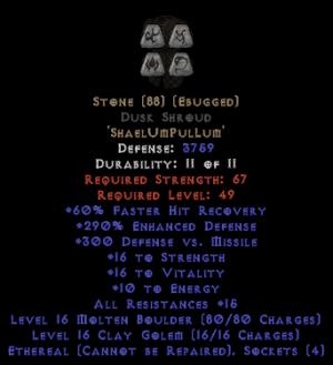 Stone Dusk Shroud - Eth Bugged - 290% ED - Perfect