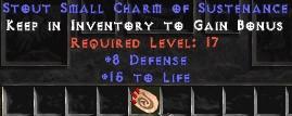 8 Defense w/ 15 Life SC