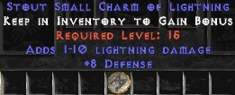 8 Defense w/ 1-10 Lightning Damage SC